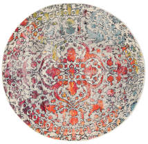 Kaleidoscope - Multi Rug Ø 150 Modern Round Light Grey/Dark Grey ( Turkey)