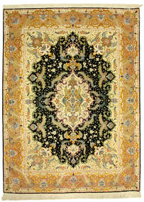 Tabriz 70Raj Silke Varp Rug 152X205 Authentic  Oriental Handknotted (Wool/Silk, Persia/Iran)