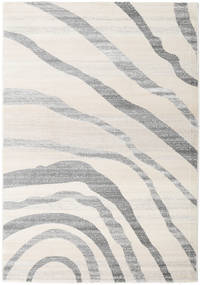 Wavy - Light Rug 140X200 Modern Light Grey/White/Creme ( Turkey)