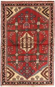 Saveh Matto 97X155 Itämainen Käsinsolmittu Ruoste/Tummanpunainen (Villa, Persia/Iran)