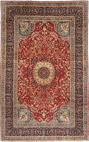 Yazd Szőnyeg 235X382 Keleti Csomózású Sötétpiros/Világosbarna (Gyapjú, Perzsia/Irán)