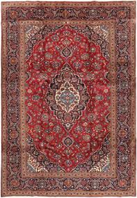 케샨 러그 240X351 정품 오리엔탈 수제 다크 레드/브라운 (울, 페르시아/이란)