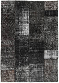 Patchwork Rug 161X230 Authentic  Modern Handknotted Dark Grey/Black (Wool, Turkey)
