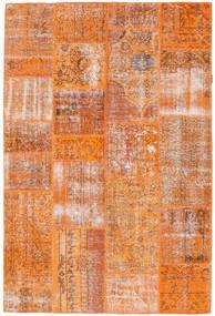 Patchwork Matto 160X239 Moderni Käsinsolmittu Oranssi/Vaaleanruskea (Villa, Turkki)