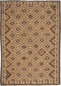 Kelim Maimane Teppe 162X232 Ekte Orientalsk Håndvevd Lysbrun/Brun (Ull, Afghanistan)