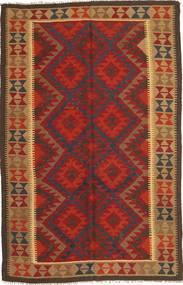 Kilim Maimane Tapis 159X246 D'orient Tissé À La Main Rouge Foncé/Marron Foncé (Laine, Afghanistan)