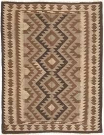Kelim Maimane Teppich  146X193 Echter Orientalischer Handgewebter Braun/Dunkelbraun (Wolle, Afghanistan)