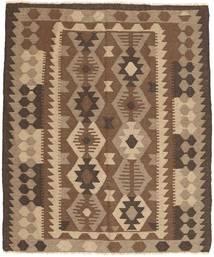 Kelim Maimane Teppich  157X179 Echter Orientalischer Handgewebter Braun/Dunkelbraun (Wolle, Afghanistan)