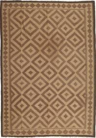 Kelim Maimane Teppe 203X300 Ekte Orientalsk Håndvevd Lysbrun/Brun (Ull, Afghanistan)