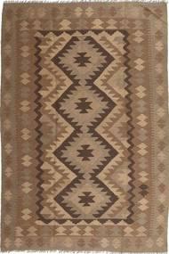 Kelim Maimane Matto 194X295 Itämainen Käsinkudottu Ruskea/Vaaleanruskea (Villa, Afganistan)
