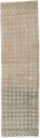 Colored Vintage Rug 80X288 Authentic  Modern Handknotted Hallway Runner  Light Grey (Wool, Turkey)