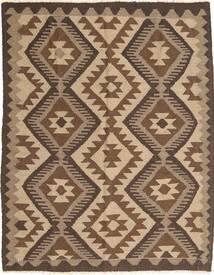 Kelim Maimane Teppich  160X200 Echter Orientalischer Handgewebter Braun/Dunkelbraun (Wolle, Afghanistan)