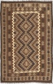 Kelim Maimane Teppe 193X305 Ekte Orientalsk Håndvevd Brun/Lysbrun/Mørk Brun (Ull, Afghanistan)