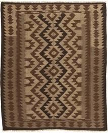 Kilim Maimane Rug 148X188 Authentic Oriental Handwoven Dark Brown/Light Brown/Brown (Wool, Afghanistan)
