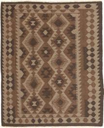 Kelim Maimane Teppich 149X188 Echter Orientalischer Handgewebter Braun/Hellbraun (Wolle, Afghanistan)