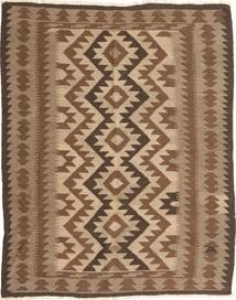 Kelim Maimane Teppich 146X190 Echter Orientalischer Handgewebter Braun/Dunkelbraun (Wolle, Afghanistan)