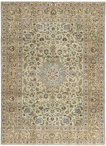 Keshan Patina Rug 235X333 Authentic  Oriental Handknotted Light Brown/Olive Green (Wool, Persia/Iran)
