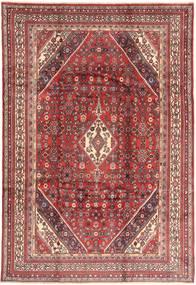 Hamadan Tapis 213X317 D'orient Fait Main Rouge Foncé/Marron (Laine, Perse/Iran)