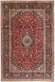 Keshan Teppe 198X295 Ekte Orientalsk Håndknyttet Mørk Brun/Mørk Rød (Ull, Persia/Iran)