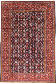 Arak Rug 200X305 Authentic Oriental Handknotted Dark Red/Dark Brown (Wool, Persia/Iran)