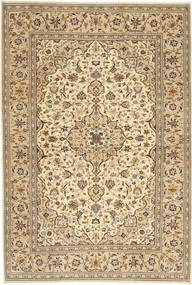 Keshan Patina Rug 197X294 Authentic  Oriental Handknotted Light Brown/Dark Beige (Wool, Persia/Iran)