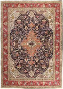Tabriz Patina Matto 252X347 Itämainen Käsinsolmittu Tummanpunainen/Vaaleanharmaa Isot (Villa, Persia/Iran)