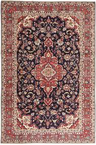 Hamadan Shahrbaf Patina Matto 203X313 Itämainen Käsinsolmittu Tummanpunainen/Vaaleanruskea (Villa, Persia/Iran)