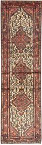 Hamadan Rug 78X295 Authentic  Oriental Handknotted Hallway Runner  Light Brown/Brown (Wool, Persia/Iran)