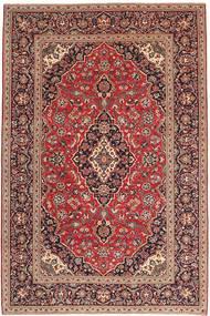 Keshan Rug 198X300 Authentic  Oriental Handknotted Brown/Dark Brown (Wool, Persia/Iran)