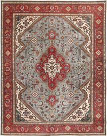 Tabriz Patina Matto 293X374 Itämainen Käsinsolmittu Vaaleanruskea/Vaaleanharmaa Isot (Villa, Persia/Iran)