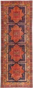 Hamadan Patina Rug 145X392 Authentic  Oriental Handknotted Hallway Runner  Dark Red/Orange (Wool, Persia/Iran)