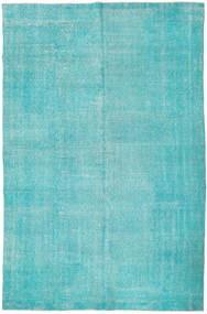 Colored Vintage Rug 201X306 Authentic  Modern Handknotted Turquoise Blue/Turquoise Blue (Wool, Turkey)