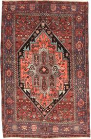 Hamadan Tapis 128X195 D'orient Fait Main Rouge Foncé/Marron Clair (Laine, Perse/Iran)