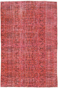 Colored Vintage Rug 158X240 Authentic  Modern Handknotted Rust Red/Pink (Wool, Turkey)