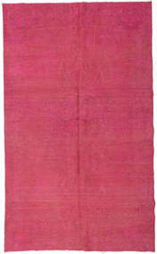 Colored Vintage Rug 162X270 Authentic  Modern Handknotted Pink/Rust Red (Wool, Turkey)