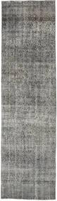 Colored Vintage Rug 90X333 Authentic  Modern Handknotted Hallway Runner  Dark Grey/Light Grey (Wool, Turkey)