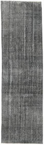 Colored Vintage Rug 84X300 Authentic  Modern Handknotted Hallway Runner  Dark Grey (Wool, Turkey)