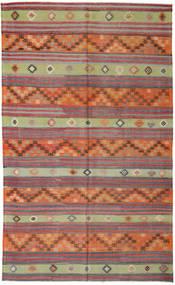 Kelim Tyrkiske Teppe 172X291 Ekte Orientalsk Håndvevd Brun/Orange (Ull, Tyrkia)