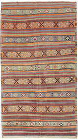 Kilim Turkish Rug 166X295 Authentic  Oriental Handwoven Light Brown/Brown (Wool, Turkey)