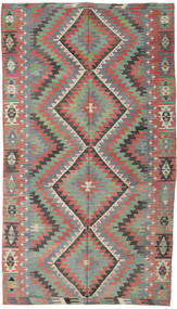 Kilim Turkish Rug 172X310 Authentic  Oriental Handwoven Dark Grey/Light Grey (Wool, Turkey)