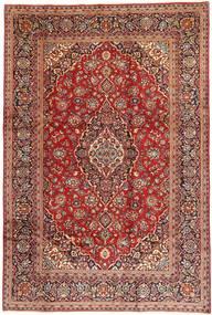 Keshan Matto 200X304 Itämainen Käsinsolmittu Tummanpunainen/Vaaleanruskea (Villa, Persia/Iran)