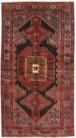 Zanjan Matto 127X240 Itämainen Käsinsolmittu Tummanpunainen/Ruskea (Villa, Persia/Iran)