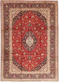 Keshan Matta 245X335 Äkta Orientalisk Handknuten Mörkröd/Brun (Ull, Persien/Iran)