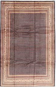 Sarough Mir Matto 214X333 Itämainen Käsinsolmittu Vaaleanpunainen/Tummansininen (Villa, Persia/Iran)