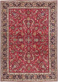 Mashad Patina Signed: Taji Rug 245X342 Authentic  Oriental Handknotted Dark Red/Crimson Red (Wool, Persia/Iran)