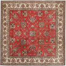Täbriz Patina Teppich 290X292 Echter Orientalischer Handgeknüpfter Quadratisch Dunkelbraun/Rost/Rot Großer (Wolle, Persien/Iran)