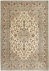 Keshan Patina Rug 205X296 Authentic  Oriental Handknotted Light Brown/Beige (Wool, Persia/Iran)