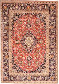 Keshan Rug 203X295 Authentic  Oriental Handknotted Dark Red/Rust Red (Wool, Persia/Iran)