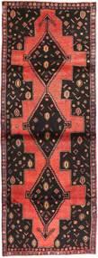Kurdi Rug 110X298 Authentic  Oriental Handknotted Hallway Runner  Dark Brown/Dark Red (Wool, Persia/Iran)