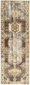 Colored Vintage Rug 93X270 Authentic  Modern Handknotted Hallway Runner  Beige/Light Brown (Wool, Persia/Iran)
